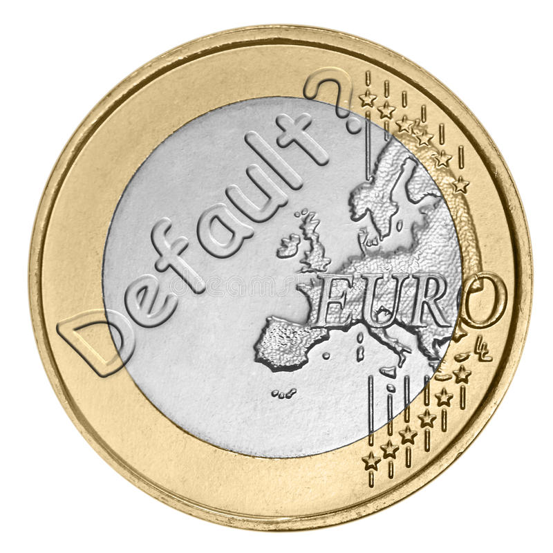 Download Euro Coin With Word Stock Photography - Image: 25756442