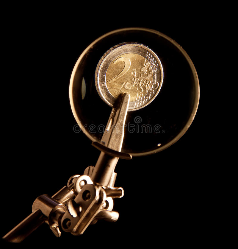Download Euro coins stock image. Image of bank, magnifying, saving - 18002051