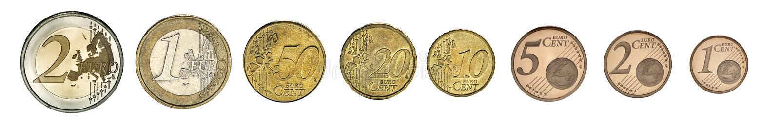Euro Coins. Photo of euro coins set photo royalty free stock photos