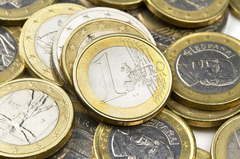 Download Euro coins stock image. Image of note, closeup, gold - 20958747