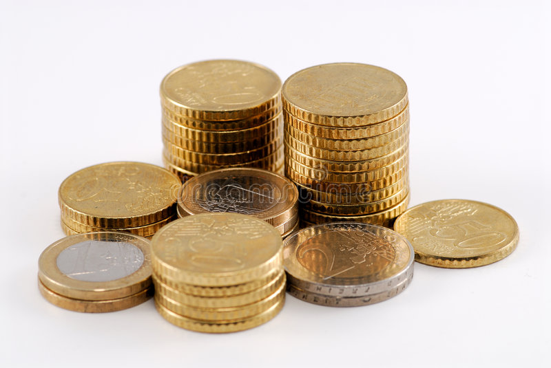 Download Euro coins stock image. Image of bank, business, saving - 4584065