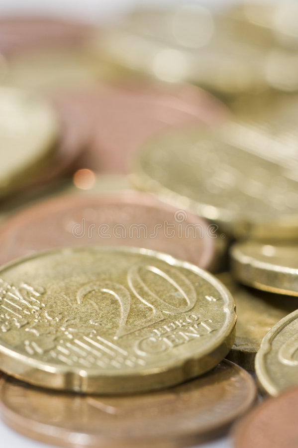 Download Euro coins. stock image. Image of euro, gold, currency - 4777231