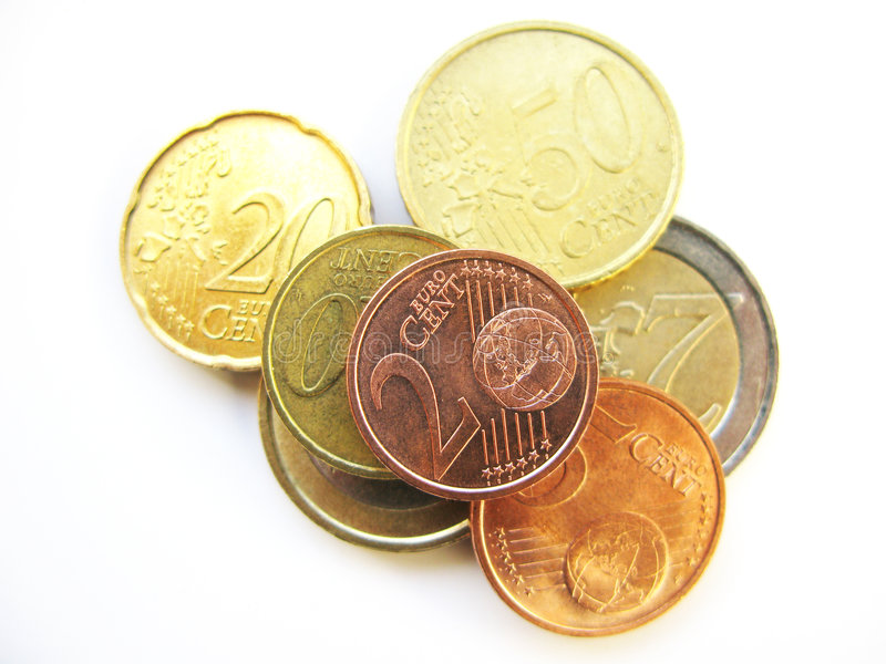 Download Euro coins stock image. Image of cents, wealth, earn, coin - 6463283