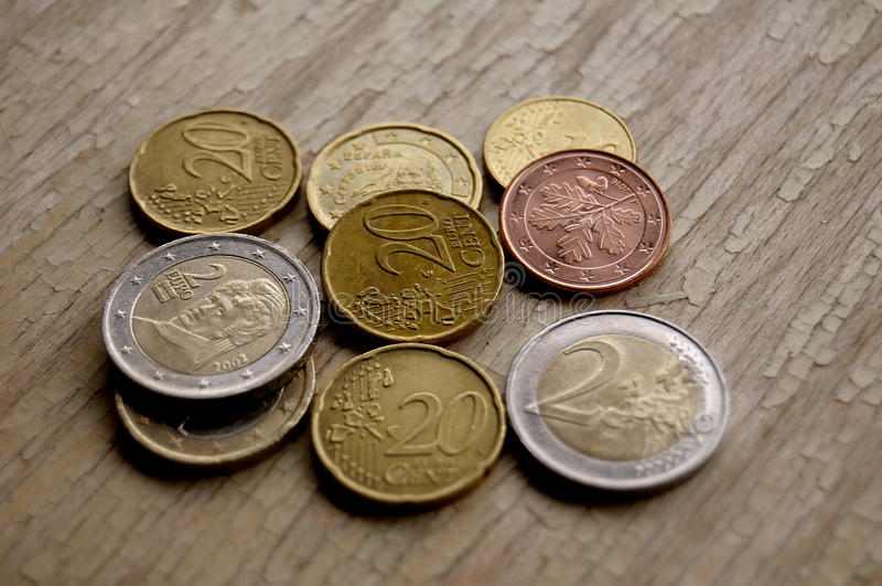 EURO COINS. Copenhagen_Denmark _05 May 2017_European curreny euro coins Photo. Francis Dean/Deanpictures stock image