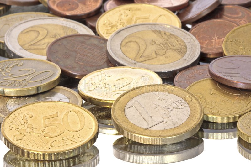 Euro coins from europe royalty free stock photography