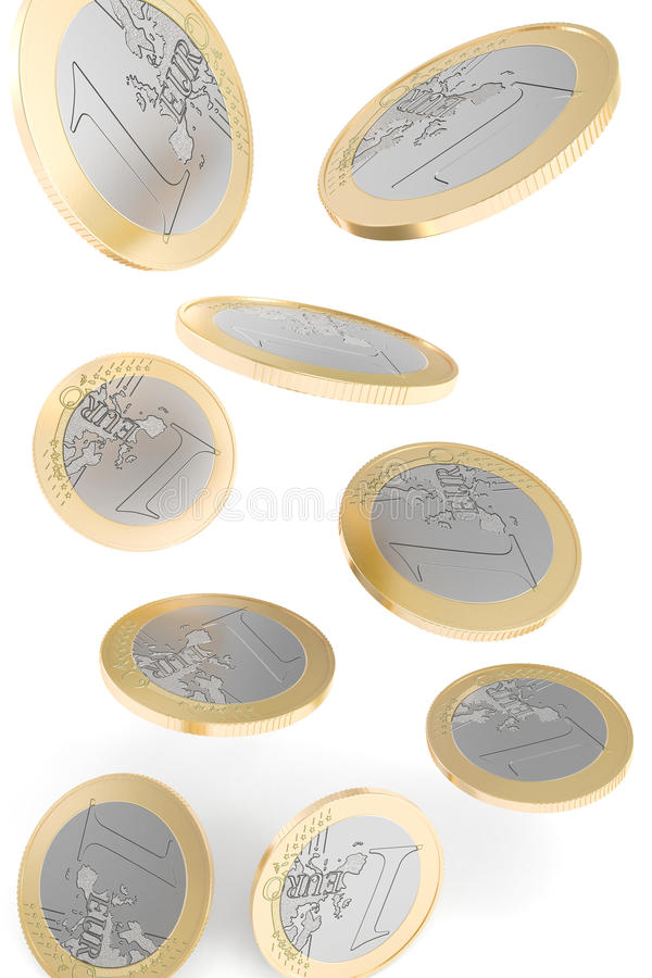 Download Euro Coins Falling To The Ground Stock Illustration - Image: 18740250