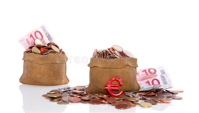 Download Euro Coins In Money Bags Stock Image - Image: 16831771