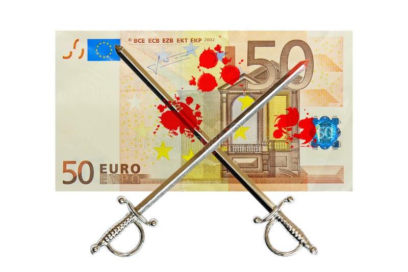 Euro combat sanglant illustration stock