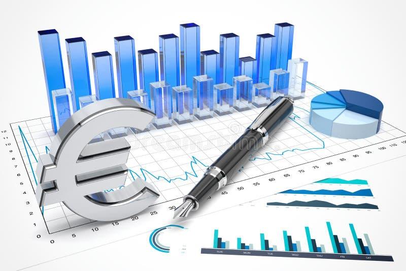 Euro commercio di riserva royalty illustrazione gratis