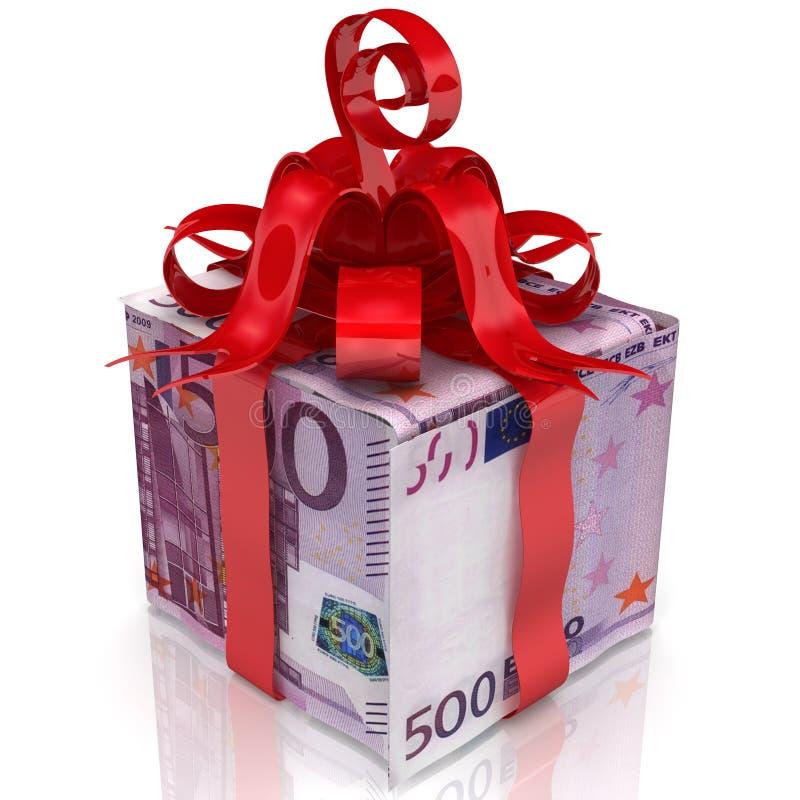 Euro como um presente ilustração do vetor