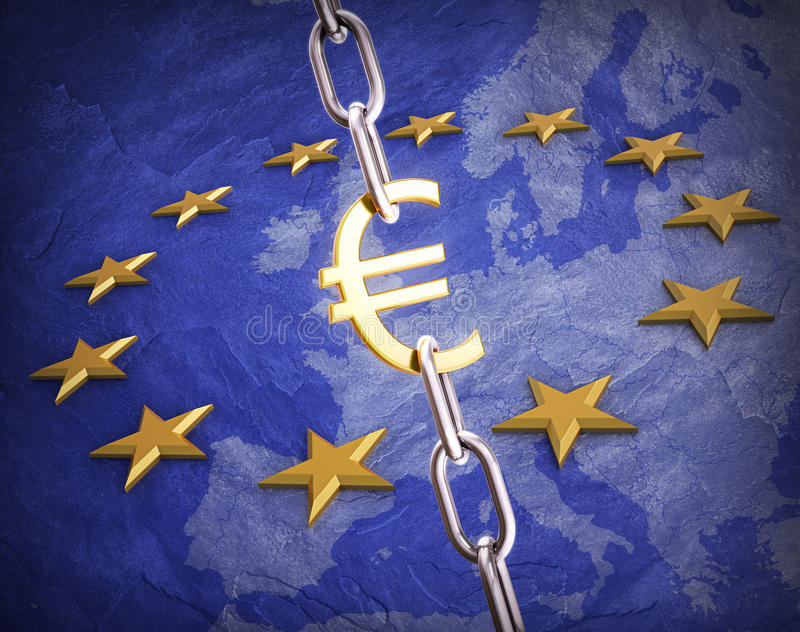 Euro- conceito da moeda ilustração stock