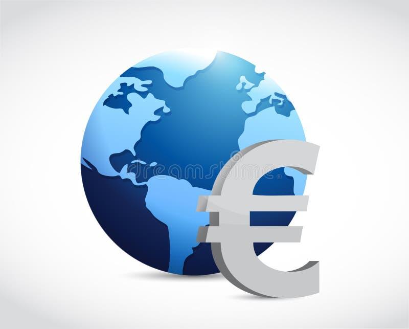 euro- conceito internacional do sinal de moeda ilustração do vetor