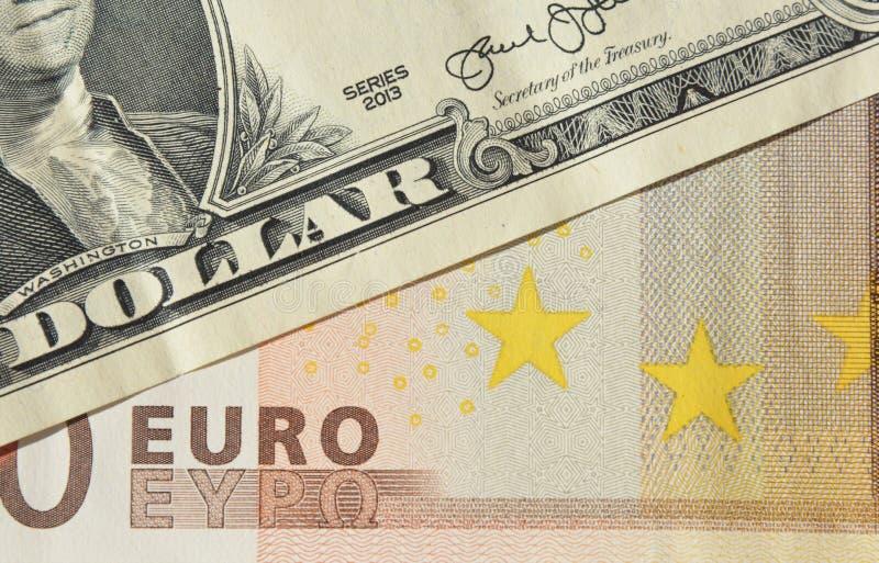 Euro concept de cours du dollar Photo de prévision de l'EUR USD Concept de taux de change de l'EUR USD photographie stock