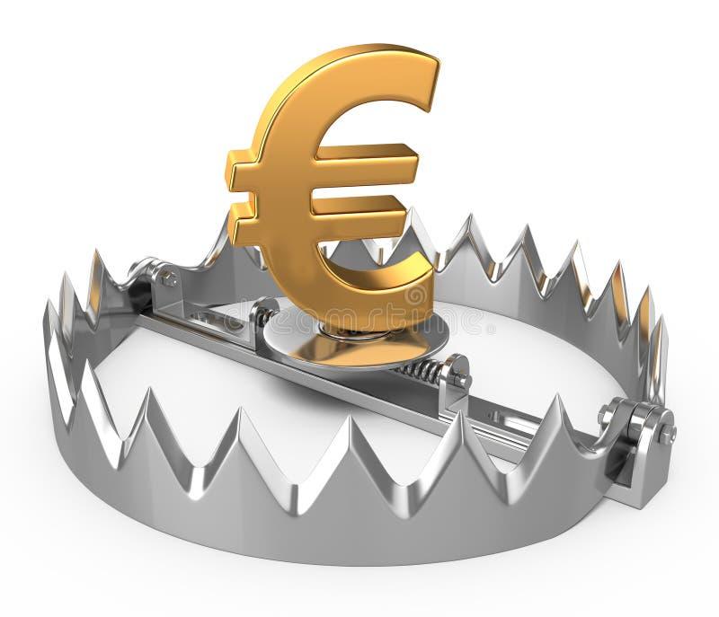 Euro concept de crise illustration libre de droits