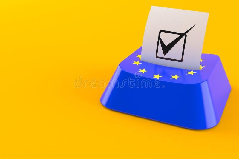 Euro concetto di voto illustrazione vettoriale