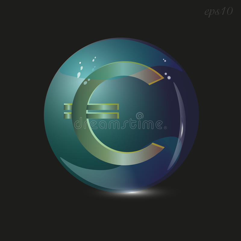 Euro connexion un bol en verre illustration stock