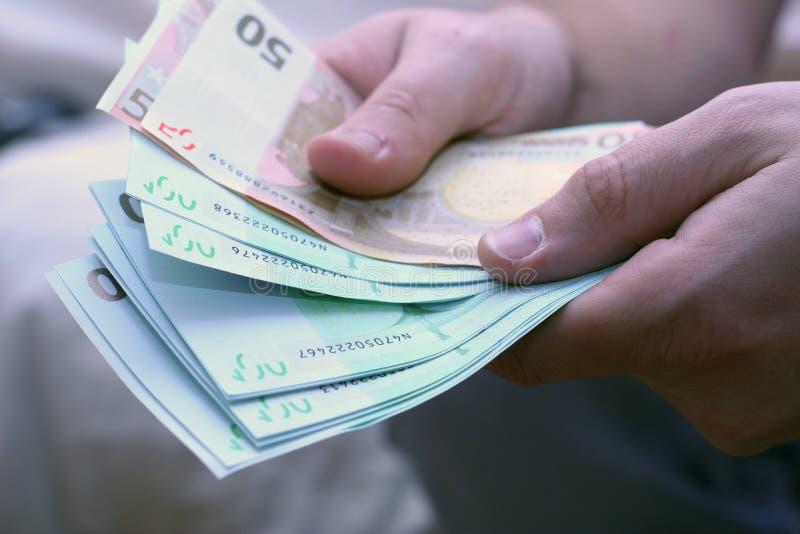 Euro- contagem imagem de stock