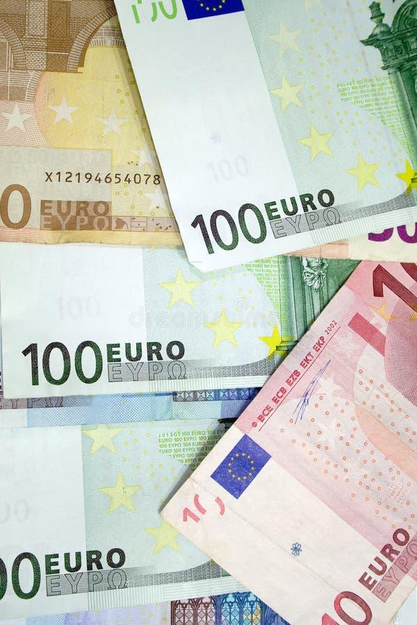 Euro- contas fotografia de stock