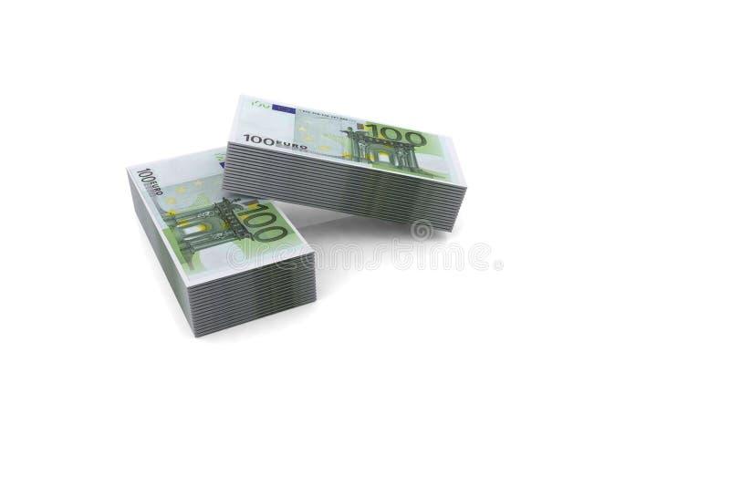 Euro- contas da pilha 100 ilustração do vetor