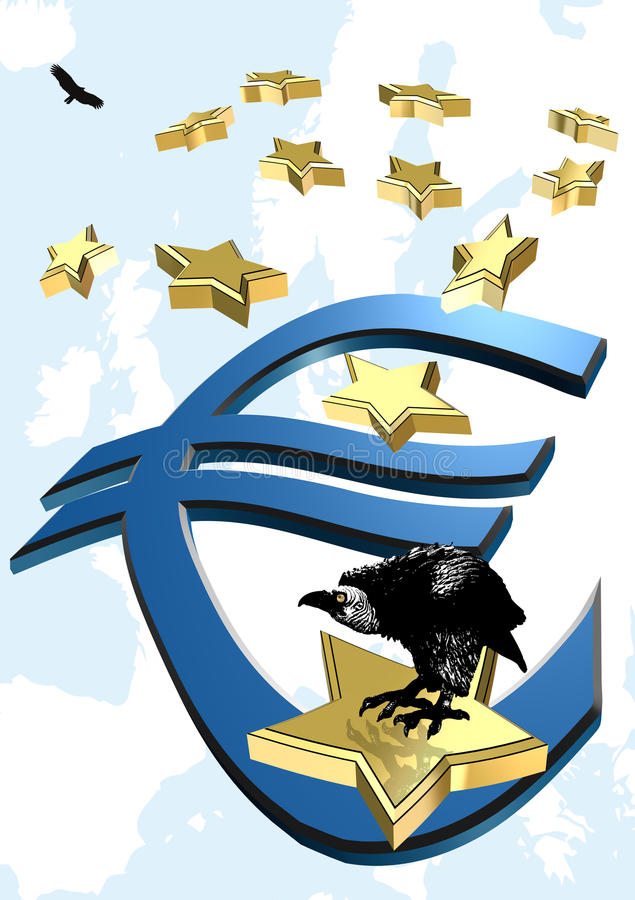 Euro crise illustration libre de droits
