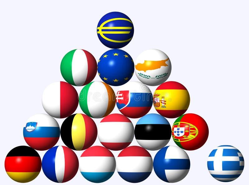 Euro- crise ilustração do vetor