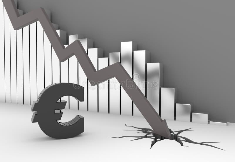 Euro crise illustration de vecteur