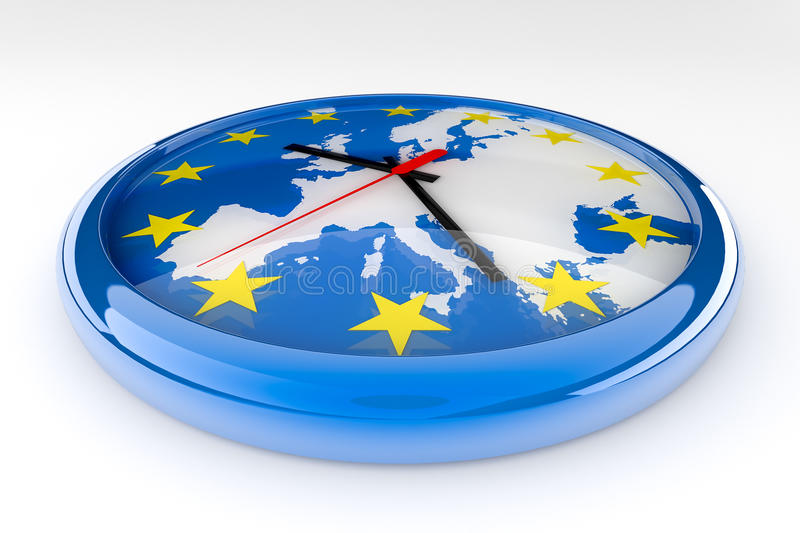 Euro crise d'horloge illustration de vecteur
