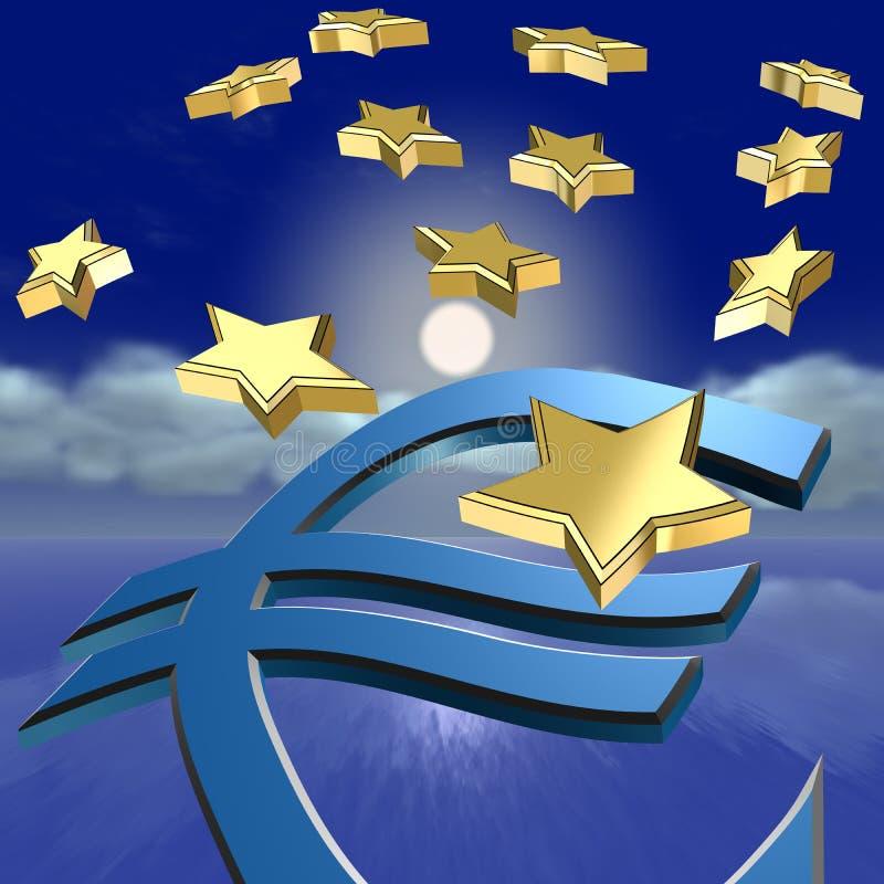 Euro crisi illustrazione di stock