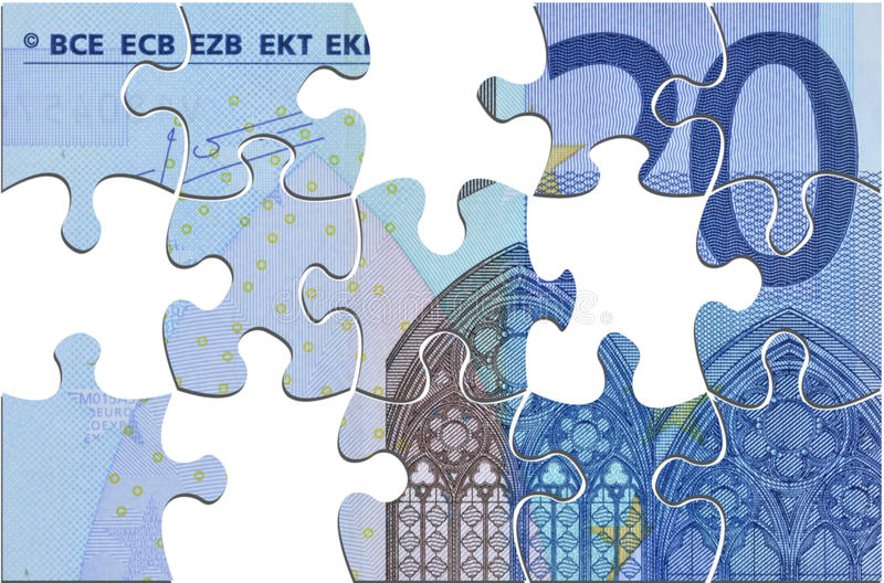Euro in crisis royalty-vrije illustratie