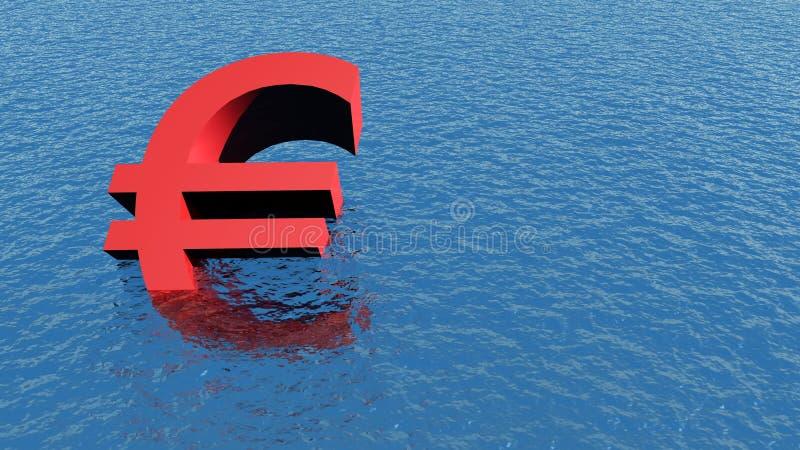 Euro crisis royalty free stock photography