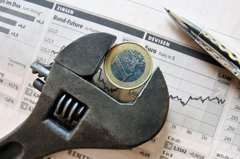 Euro Crisis royalty-vrije stock foto's