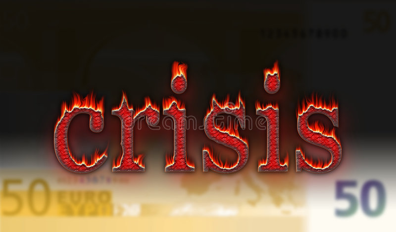 Euro crisis stock illustratie