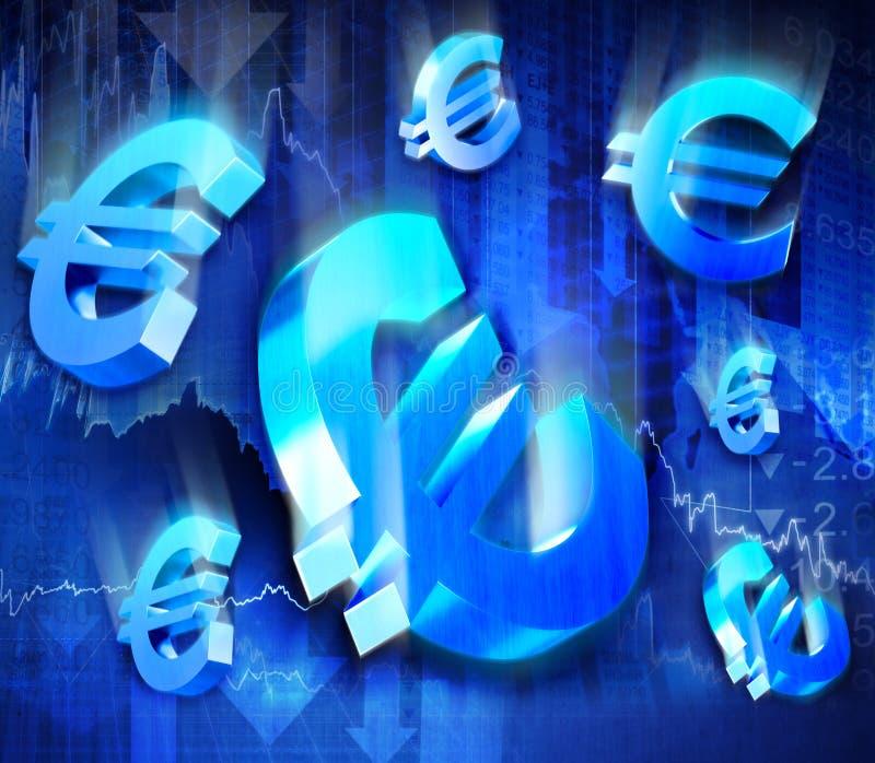Euro crollo immagine stock