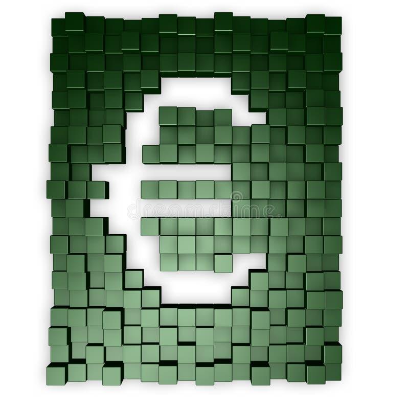 Euro- cubos ilustração stock