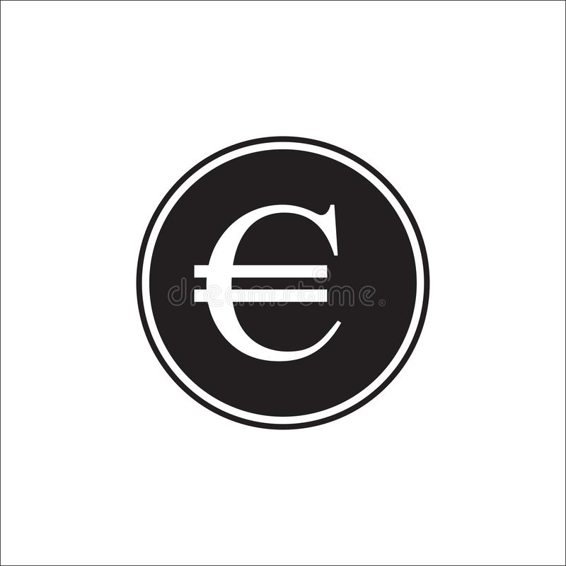 Euro curency, Euro Icon in trendy flat style isolated on grey background. Euro symbol for your web site design, logo, app, UI. vector illustration