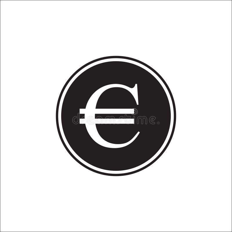 Euro curency, Euro ikona w modnym mieszkanie stylu odizolowywającym na popielatym tle Euro symbol dla twój strona internetowa pro ilustracja wektor