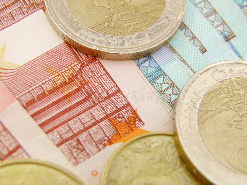 Download Euro Currency Banknotes And Coins Stock Photo - Image: 17071644