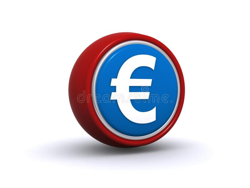 Euro currency button stock image