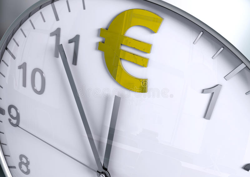 Euro currency countdown stock photos