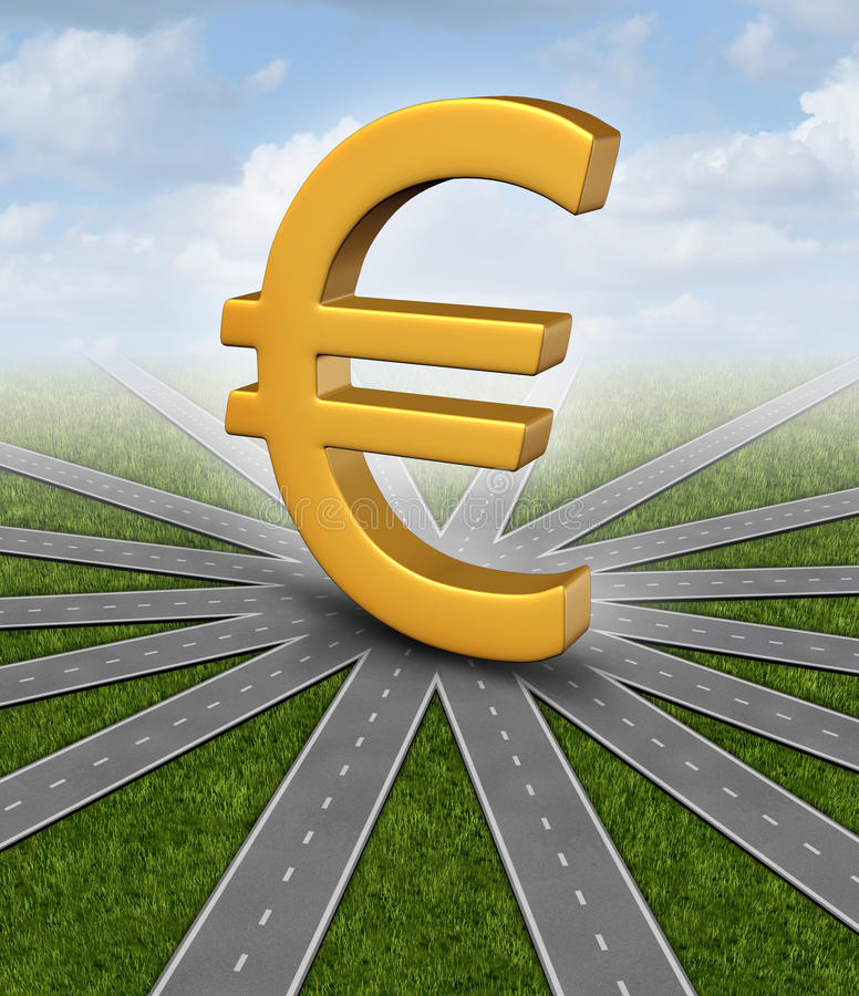 Euro Currency Direction royalty free illustration