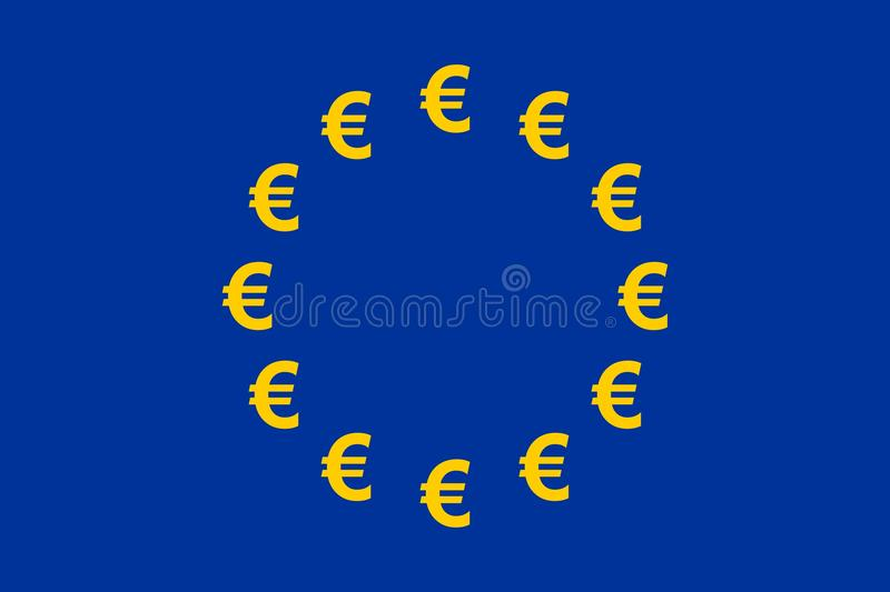 Euro Currency Flag vector illustration