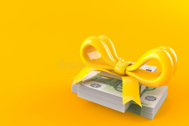 Euro currency with ribbon royalty free illustration