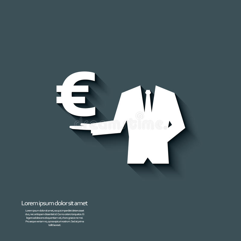 Free Euro Currency Sign With Long Shadow And 3d Effect. Royalty Free Stock Photography - 45780627