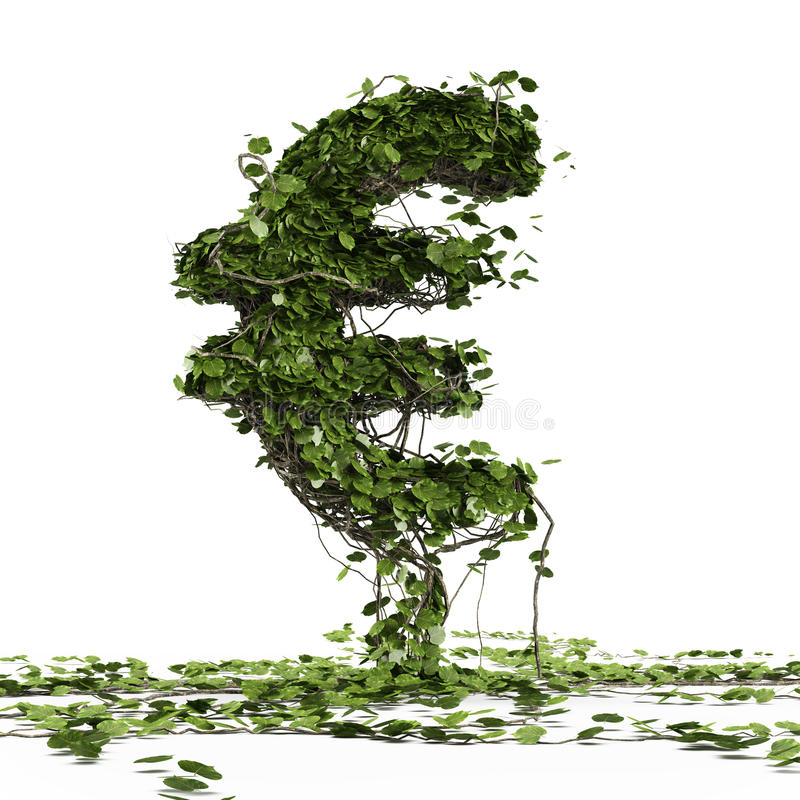 Euro currency symbol  shaped plant