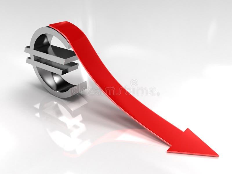 Euro déflation illustration libre de droits