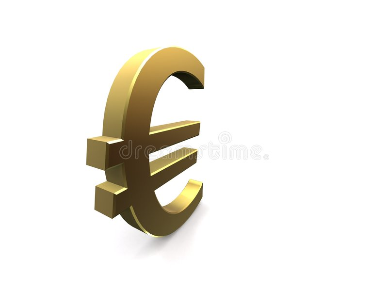 Euro d'or illustration stock