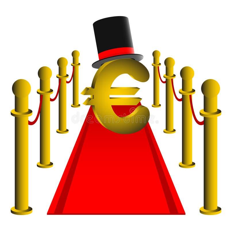 Euro d'or illustration libre de droits