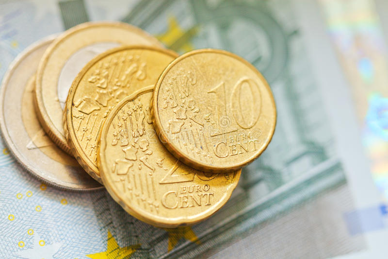 Euro d'argent photographie stock libre de droits