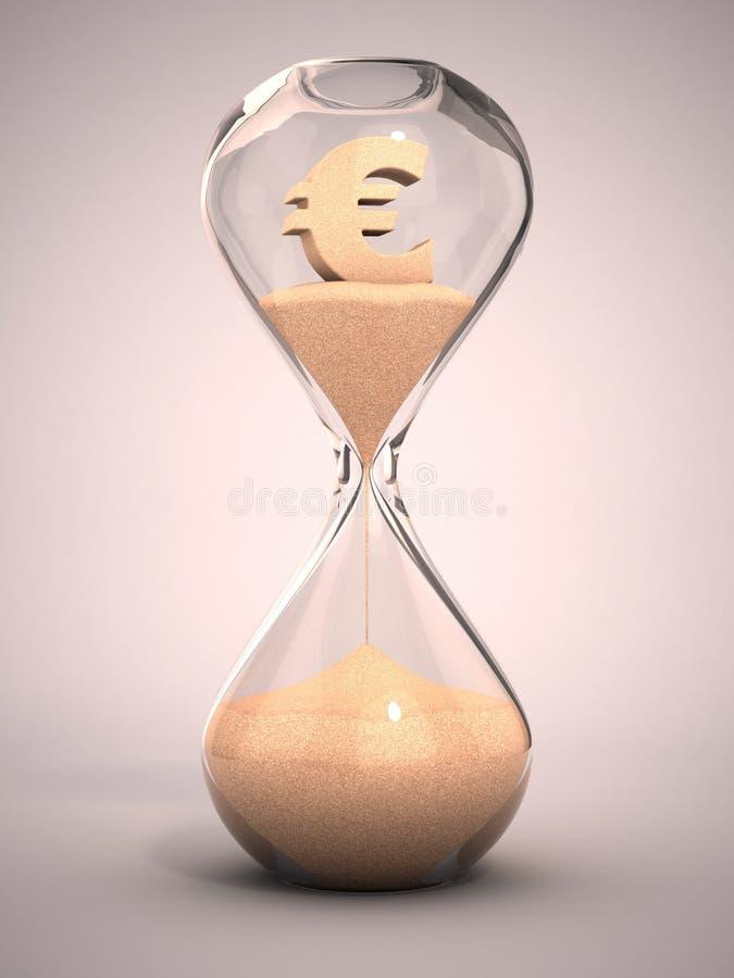 Euro da despesa ou fora do conceito do dinheiro ilustração stock