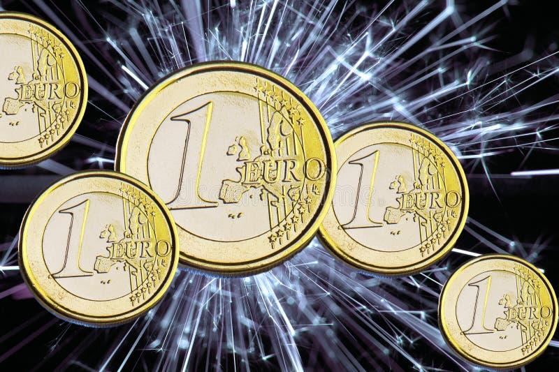 Euro da moeda fotografia de stock